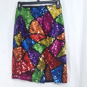 Casual Corner Cotton Sequined Argyle Size 8